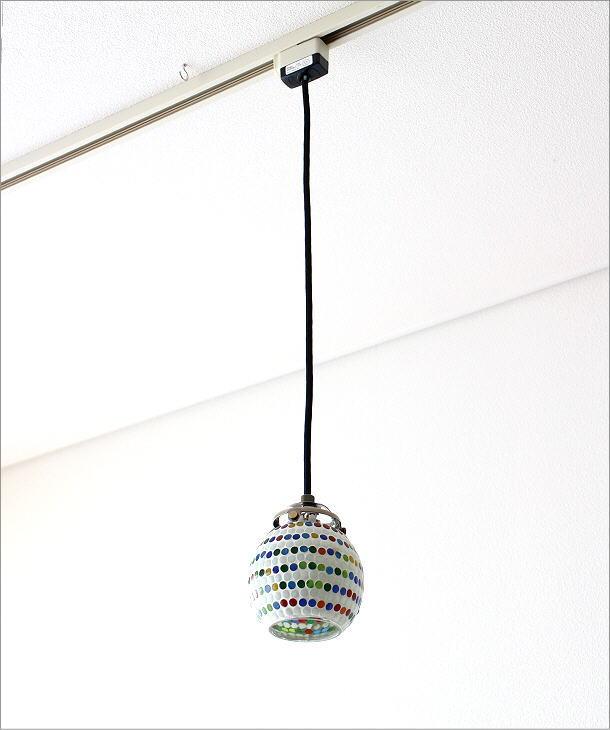 モザイクハンギングランプ ラインドット(6)