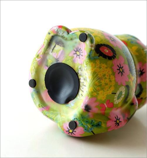 陶器のカラフル貯金箱 おすわりネコ(3)