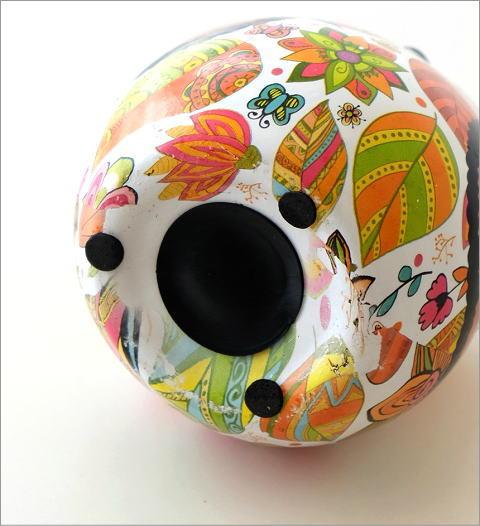陶器のカラフル貯金箱 フクロウ(4)