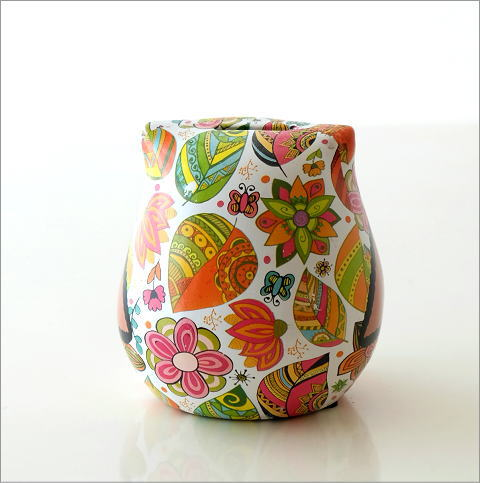 陶器のカラフル貯金箱 フクロウ(5)