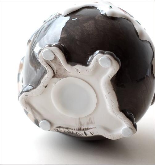 陶器の貯金箱 メガネネコ(4)