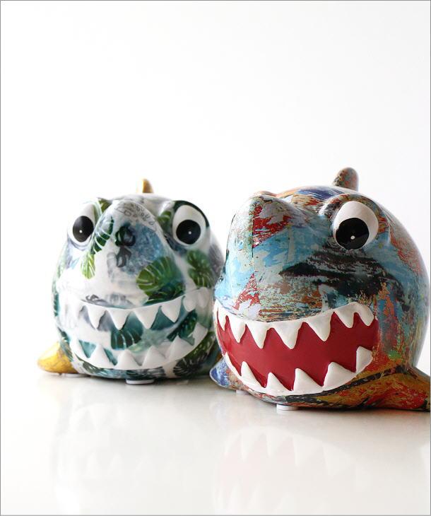 陶器の貯金箱 サメ2タイプ(1)
