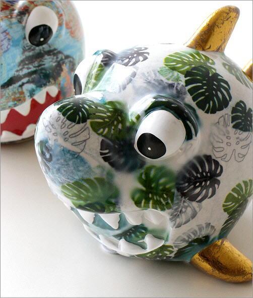 陶器の貯金箱 サメ2タイプ(2)