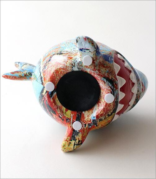 陶器の貯金箱 サメ2タイプ(4)