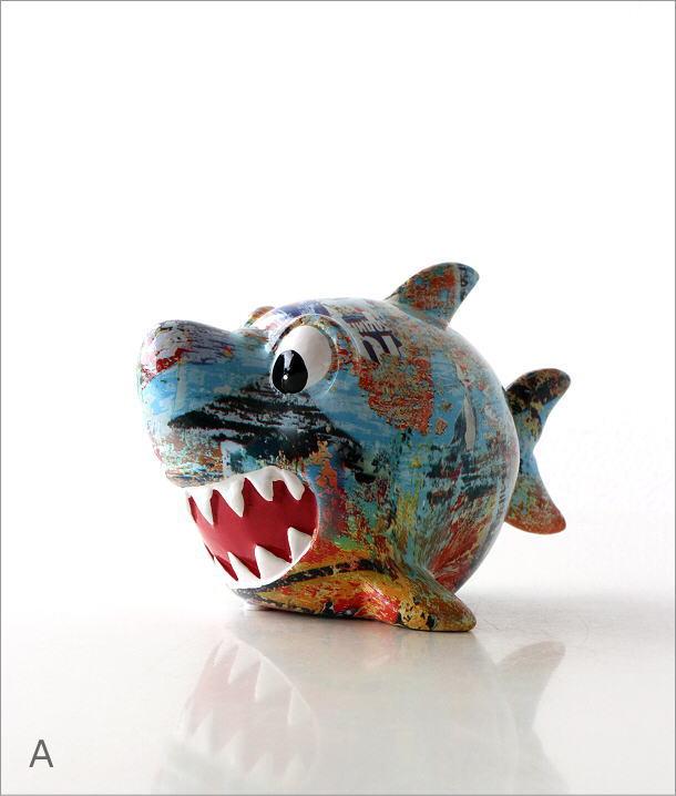 陶器の貯金箱 サメ2タイプ(5)