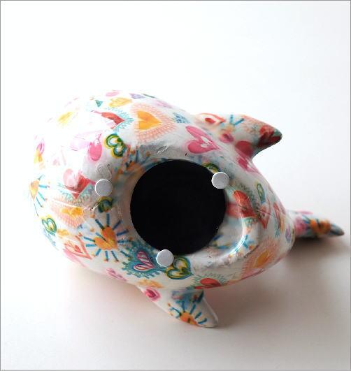 陶器の貯金箱 ハートクジラ(4)