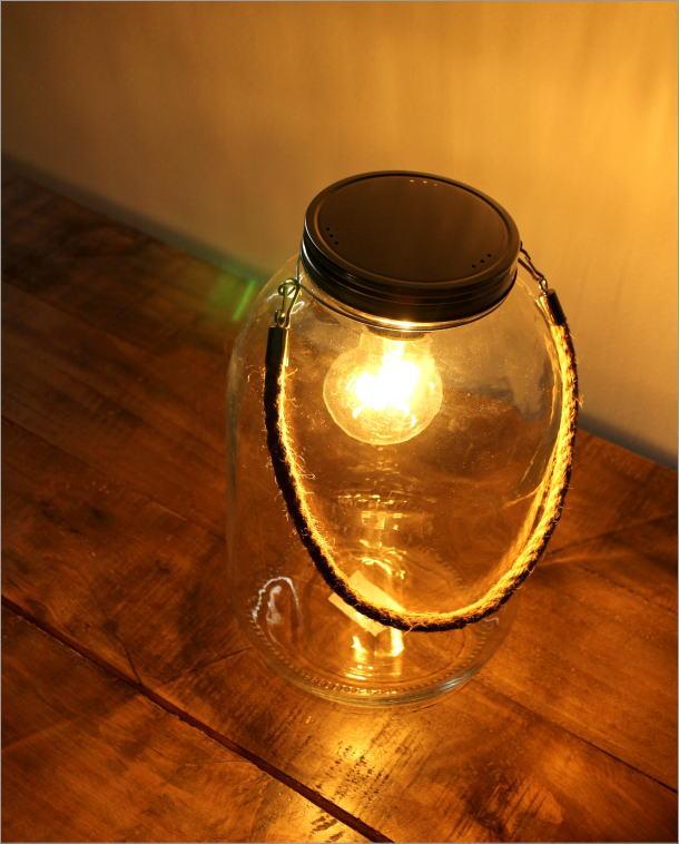 LED付きガラスボトル ハンドル付き(1)