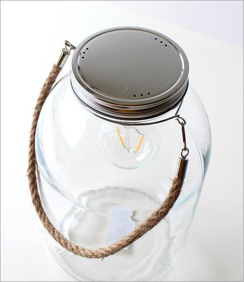 LED付きガラスボトル ハンドル付き(2)