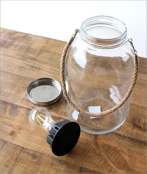 LED付きガラスボトル ハンドル付き(3)