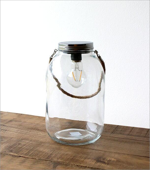 LED付きガラスボトル ハンドル付き(4)