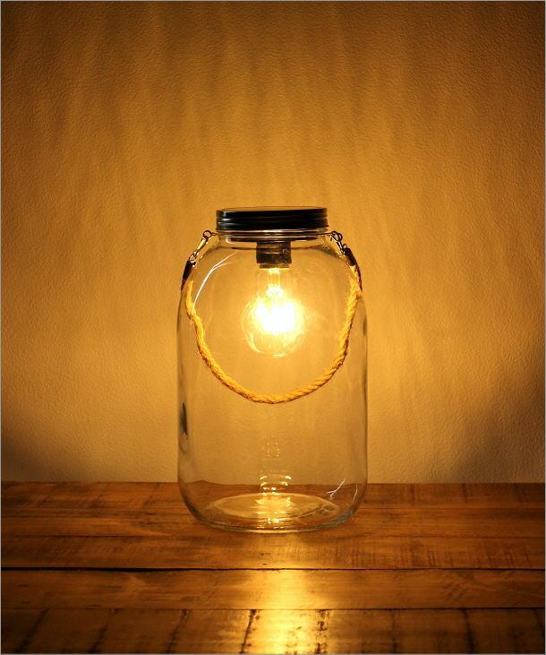 LED付きガラスボトル ハンドル付き(5)