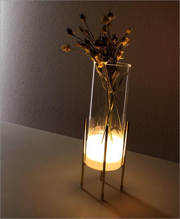 LED付きガラススタンドベース(5)