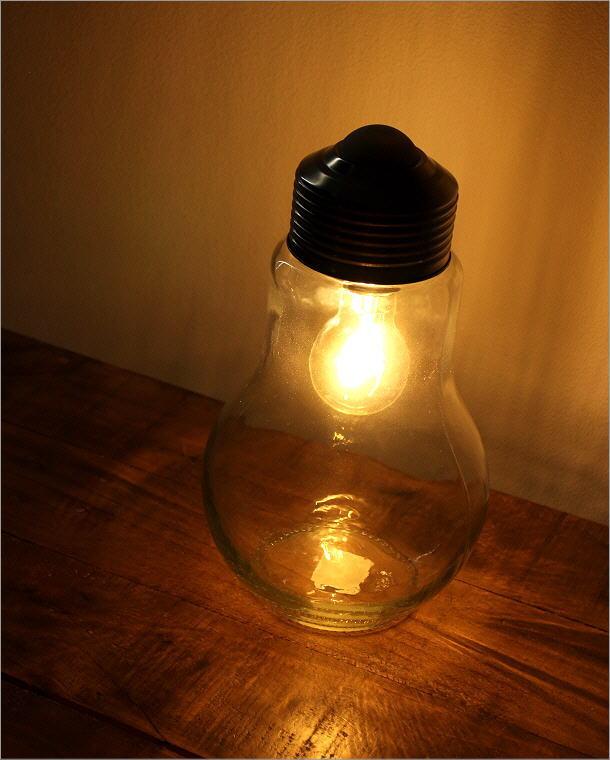 LED付きガラスボトル 電球型(1)