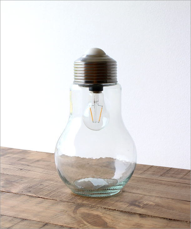 LED付きガラスボトル 電球型(4)