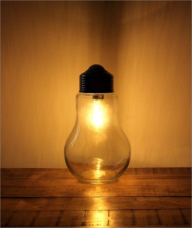 LED付きガラスボトル 電球型(5)