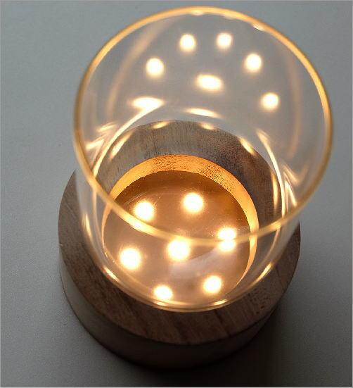 LED付きガラススタンドベース C(4)