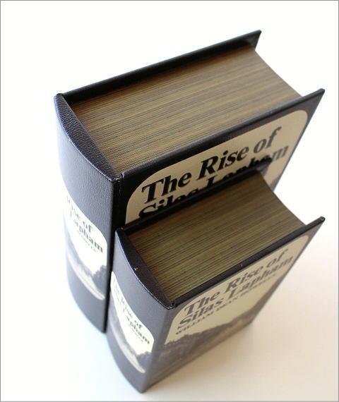 レトロなブックボックス2点セット 2タイプ(3)