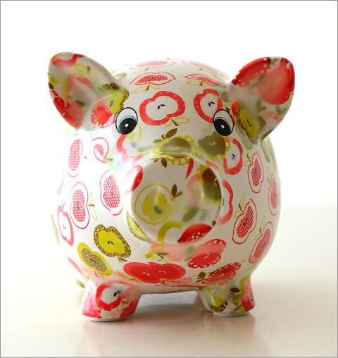 陶器のカラフル貯金箱 ブタ(2)