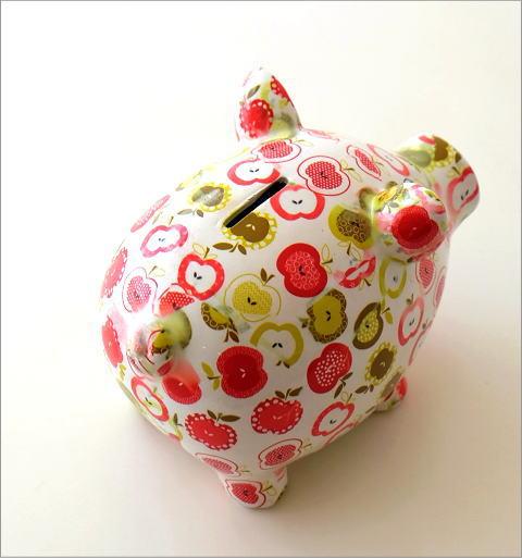 陶器のカラフル貯金箱 ブタ(3)
