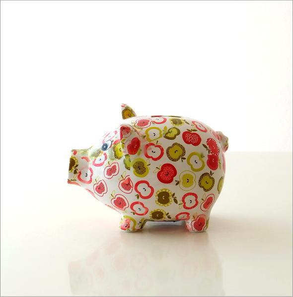 陶器のカラフル貯金箱 ブタ(5)