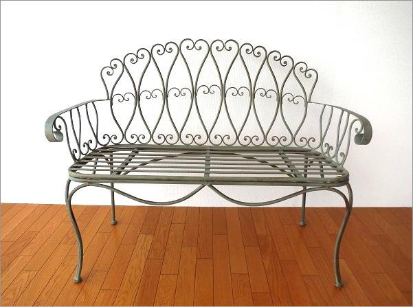アイアンの2人掛けベンチ(5)