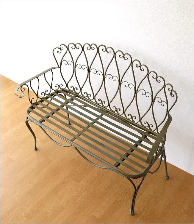 アイアンの2人掛けベンチ(1)