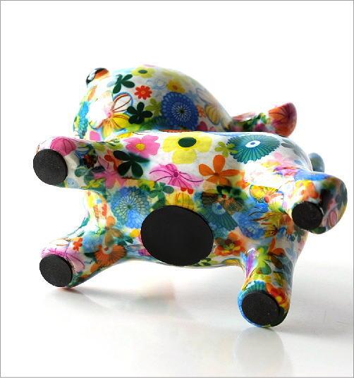陶器のカラフル貯金箱 イヌ(3)