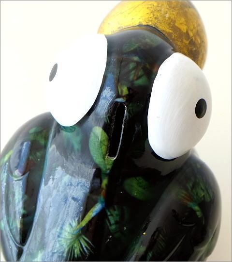 陶器のカラフル貯金箱 トリ(2)