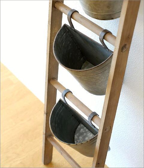 木製ラダーのフラワースタンド(3)