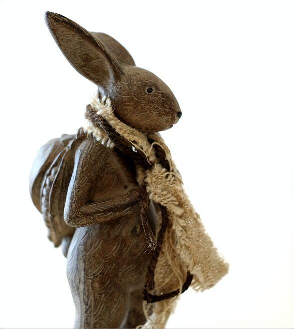 ウサギのオブジェ 旅人M(1)