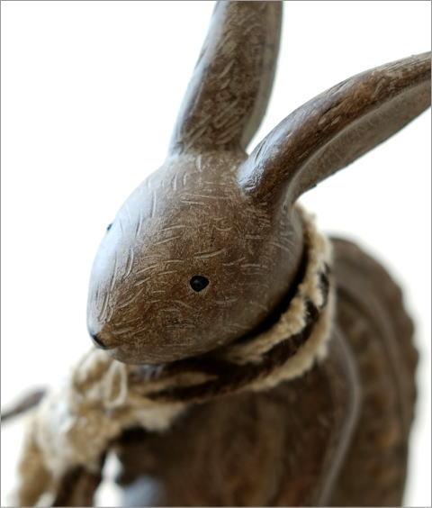 ウサギのオブジェ 旅人M(2)