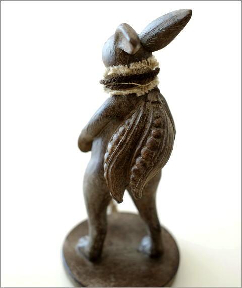 ウサギのオブジェ 旅人M(3)