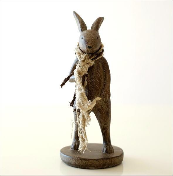 ウサギのオブジェ 旅人M(4)