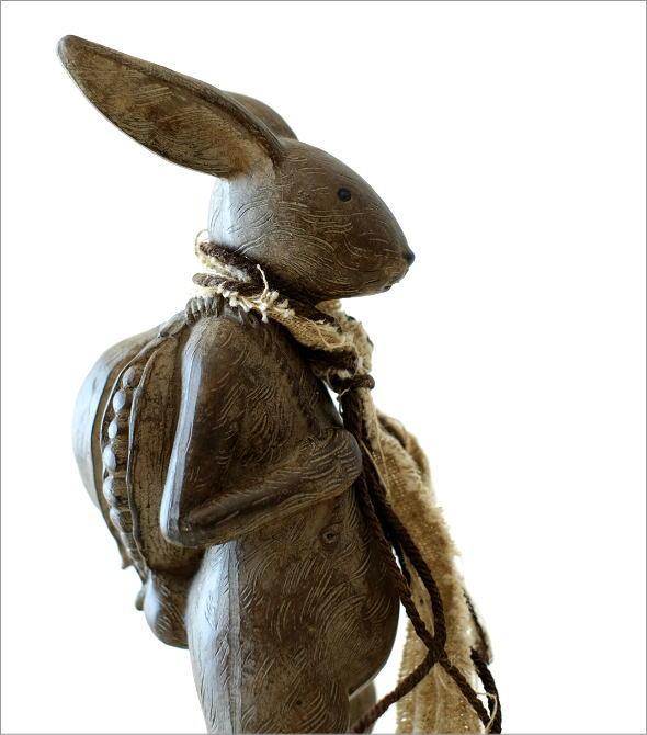 ウサギのオブジェ 旅人L(1)