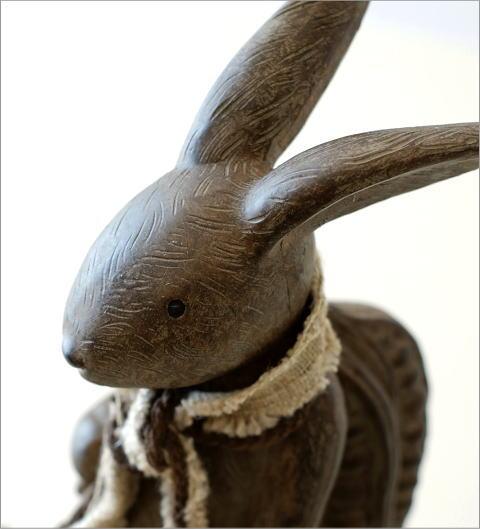 ウサギのオブジェ 旅人L(2)