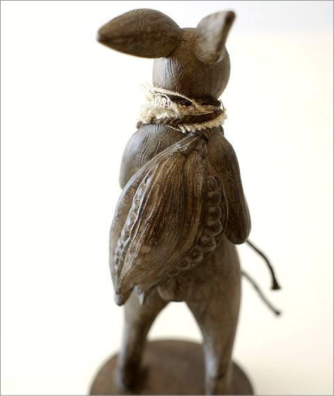 ウサギのオブジェ 旅人L(3)