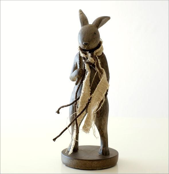 ウサギのオブジェ 旅人L(4)