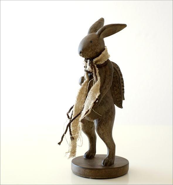 ウサギのオブジェ 旅人L(5)