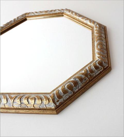 アンティークなミラー 八角(2)