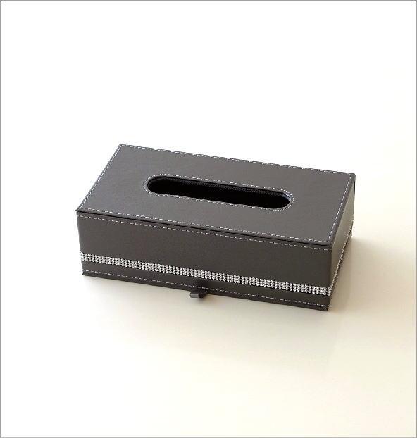 フェイクレザーティッシュボックスA(4)