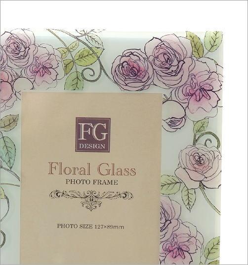 ガラスのフォトフレーム ローズ(2)