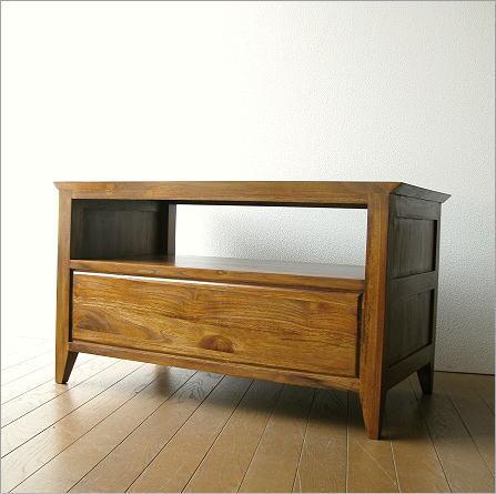 木製 TV台 チーク