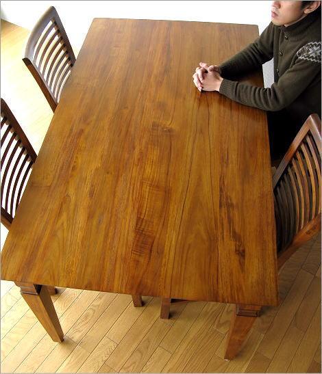 ダイニングテーブル 無垢 幅160cm 100%無垢材を使用(2)