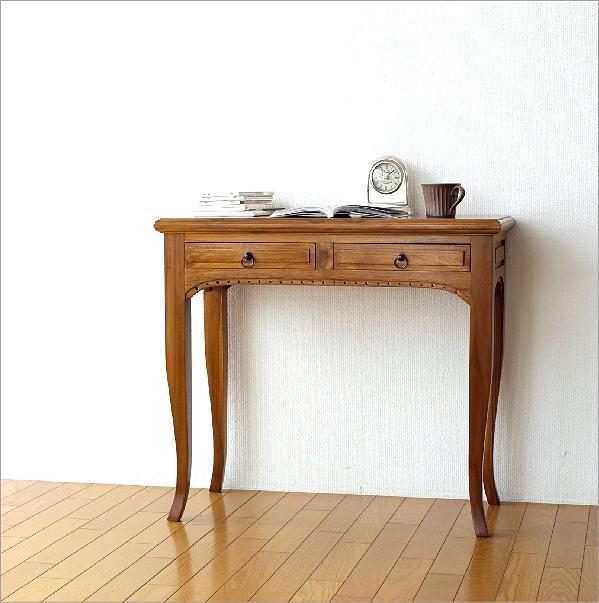 無垢材猫足デスク(木製書斎机) 無垢材猫足デスク(木製書斎机) チークコンソールデスク1
