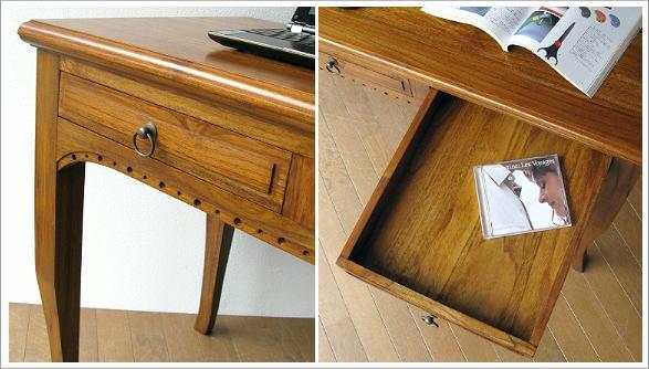 無垢 木製机 チークデスク
