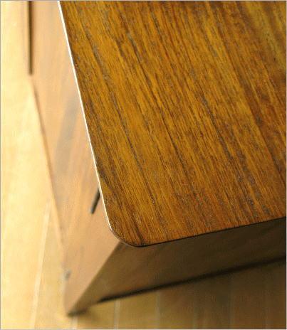 リビングボード 無垢 チークサイドボード136(4) 天板角