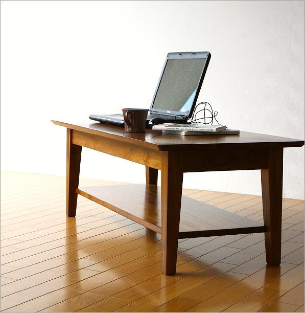 チークリビングテーブル110(1)