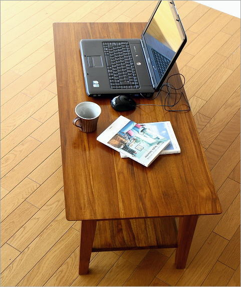 チークリビングテーブル110(2)
