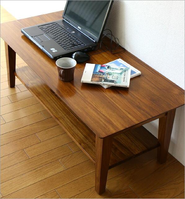 チークリビングテーブル110(3)