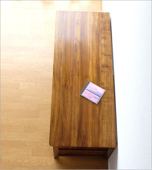 無垢材のテレビ台、チークローボード114(2)